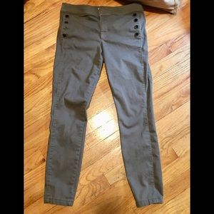 LOFT olive green sailor pants